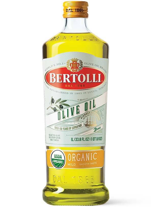 Bertolli's Organic Mild Olive Oil Bottle