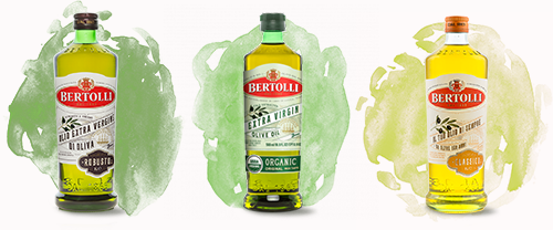 Bertolli olive oil bottles